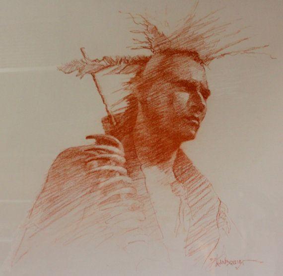 """Western Artist, Bill Lundquist, """"Dances with Wolves-Sioux Warrior"""", #891"""