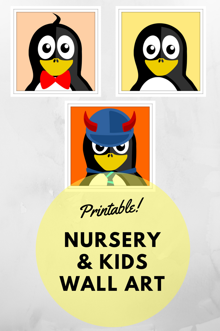 Penguin Prints. Kids or nursery wall art, nursery wall decor ...