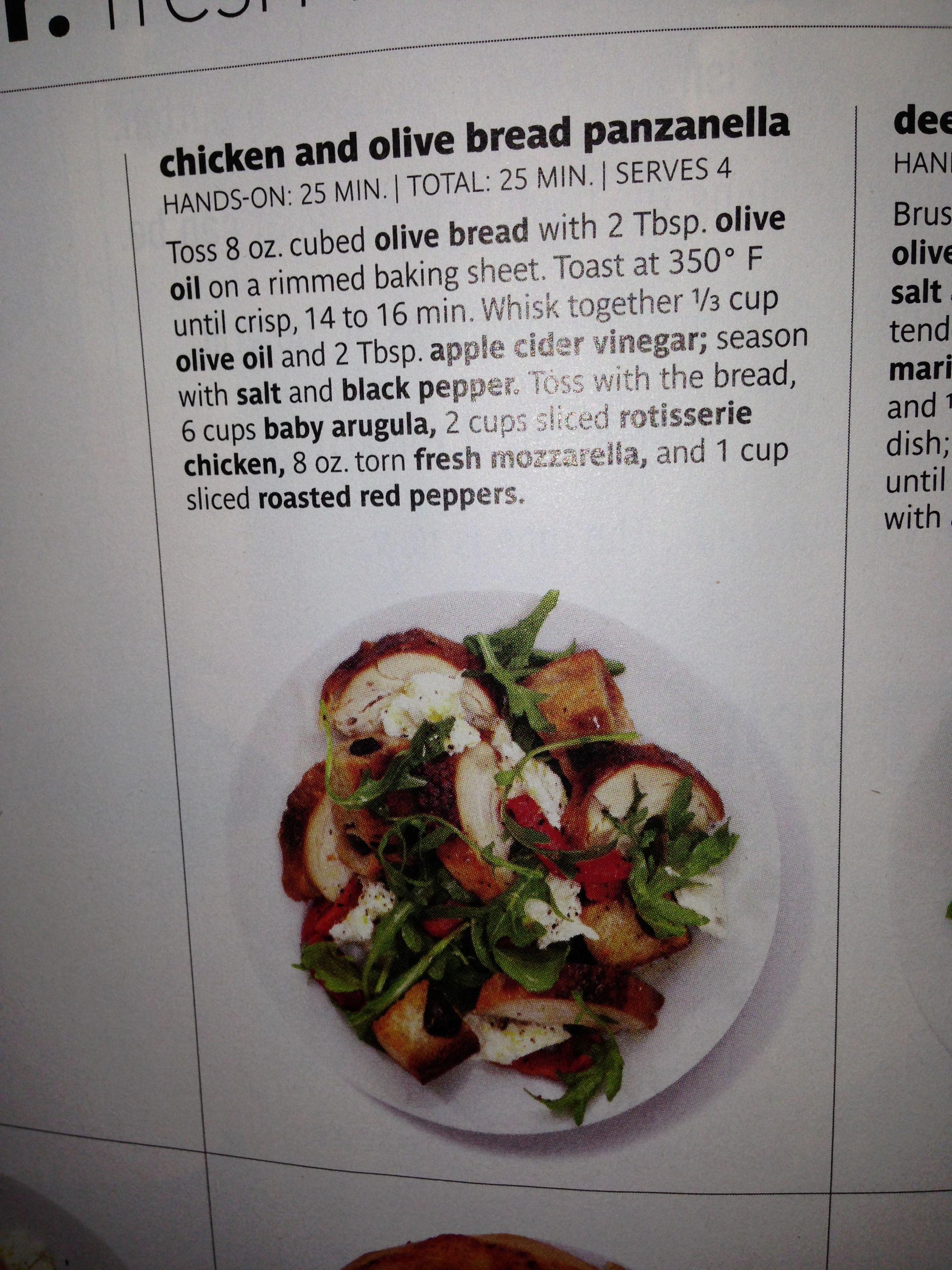 Mozzarella, Chicken and bread salad
