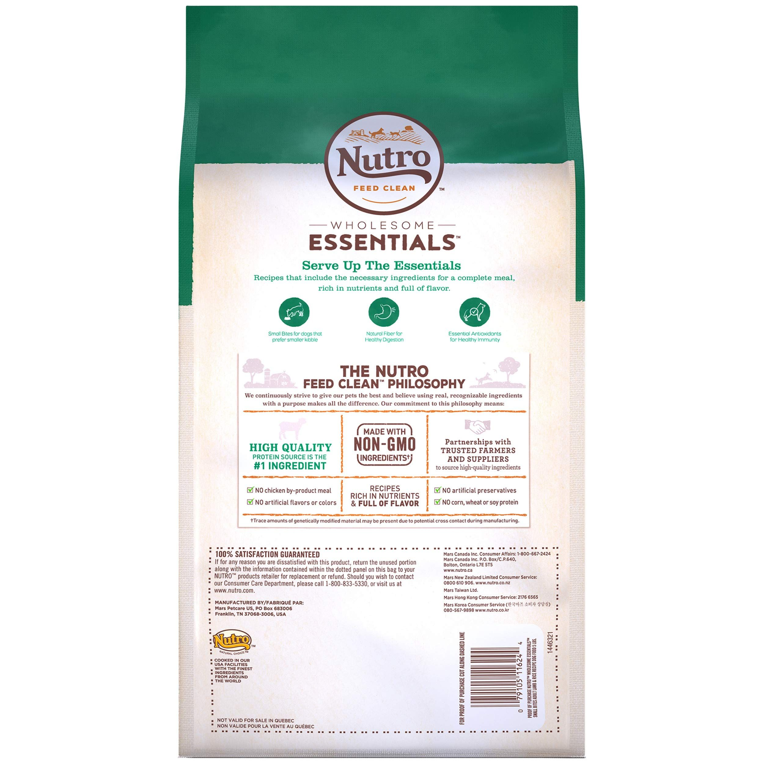 Nutro Wholesome Essentials Natural Adult Dry Dog Food Small Bites