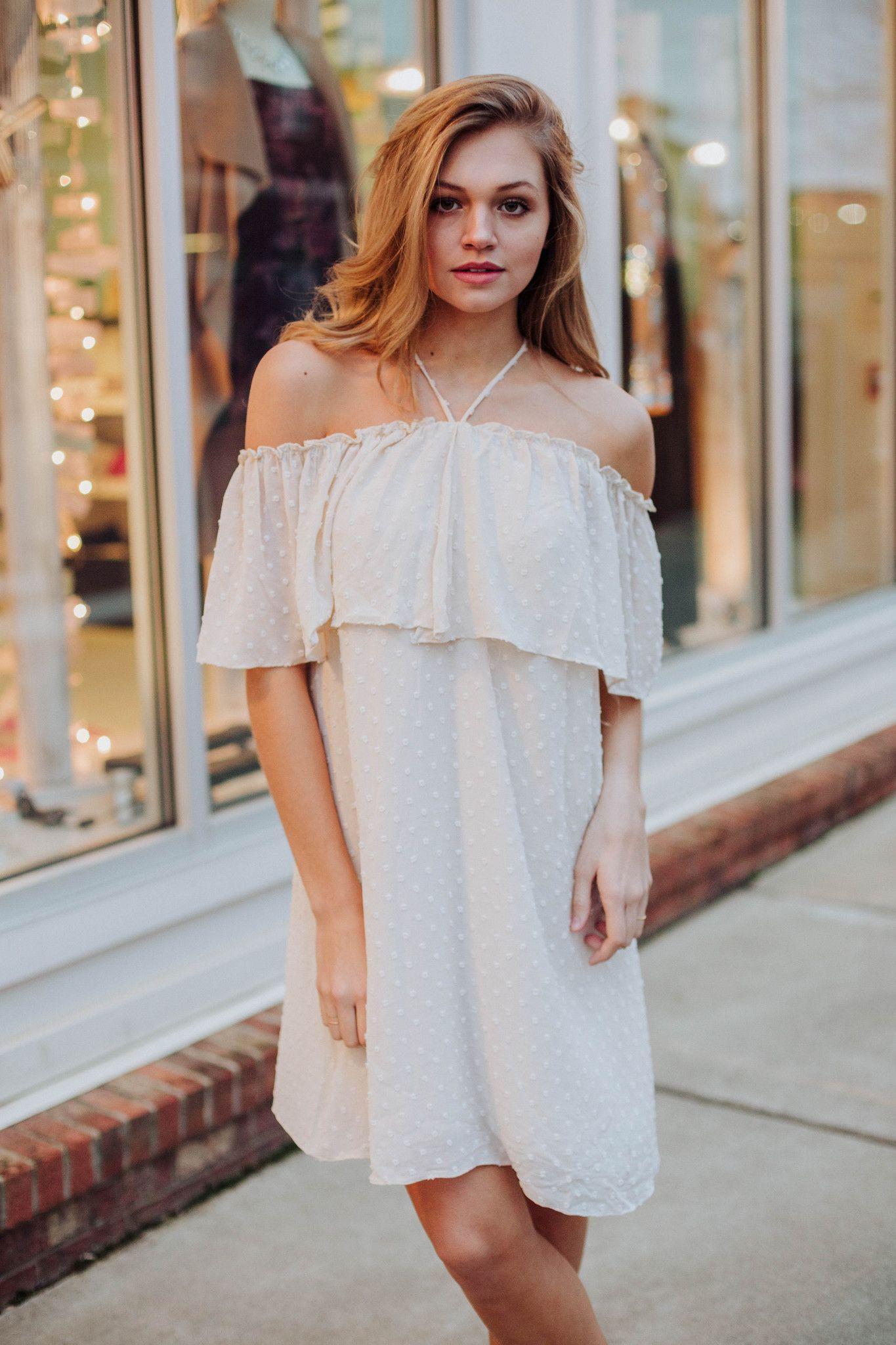 Dottie Net Ruffle Dress