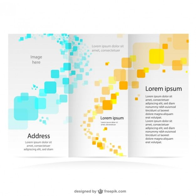 wwwfreepik free-vector brochure-free-mock-up-branding - free printable tri fold brochure templates