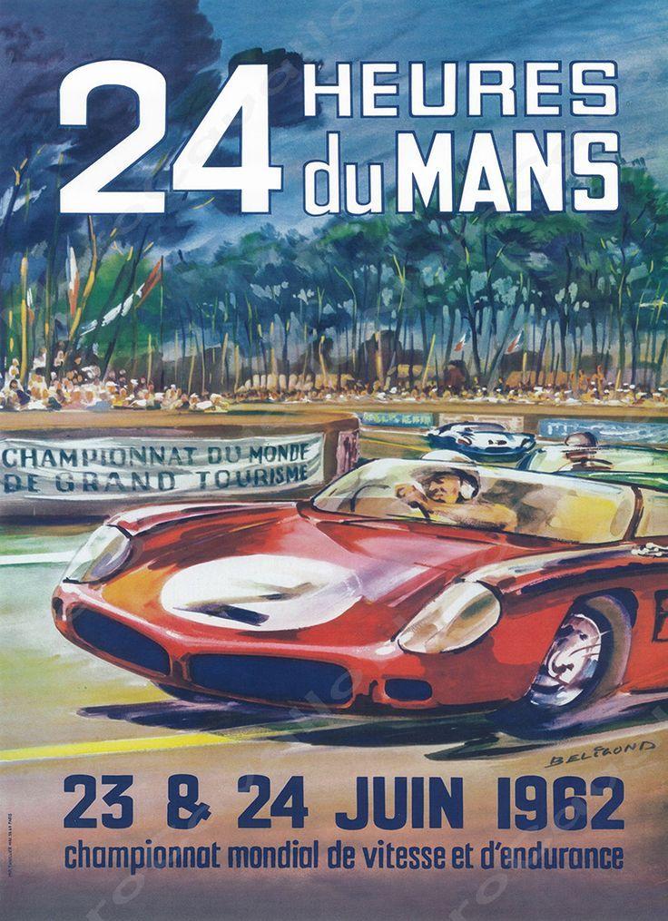 1962 Le Mans 24 Hour Program Cover Wall Print