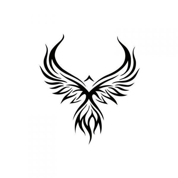 pochoir tattoo phoenix tattoos pinterest tattoo. Black Bedroom Furniture Sets. Home Design Ideas