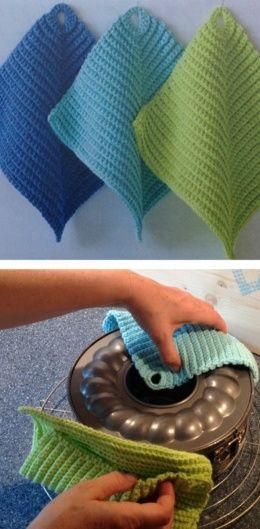 wenn topflappen zu handschmeichlern werden h keln crochet crochet patterns und knitting. Black Bedroom Furniture Sets. Home Design Ideas