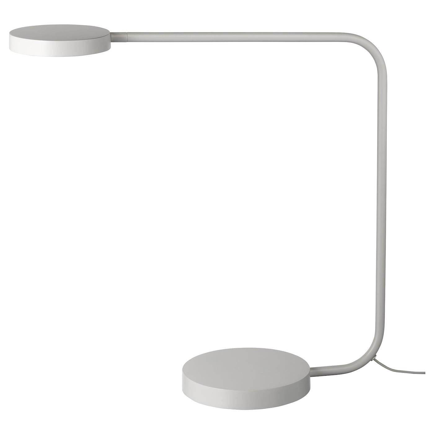 IKEA YPPERLIG, LED table lamp, light gray, A built in
