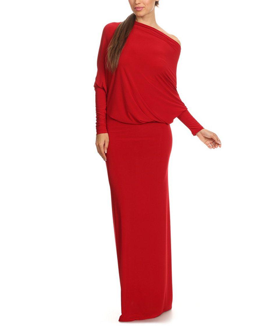 Look at this #zulilyfind! Red Plunge-Back Maxi Dress - Plus Too by Karen T. Design #zulilyfinds