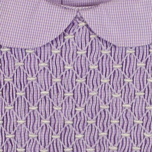 BABY DRESS PURPLE CHK WH SMOCKING | Smocking 1 | Smocking