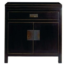 Black Lacquer Furniture Oriental Bedside Cabinets Contemporary Chinese Tables