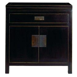 Black Lacquer Furniture Oriental Bedside Cabinets