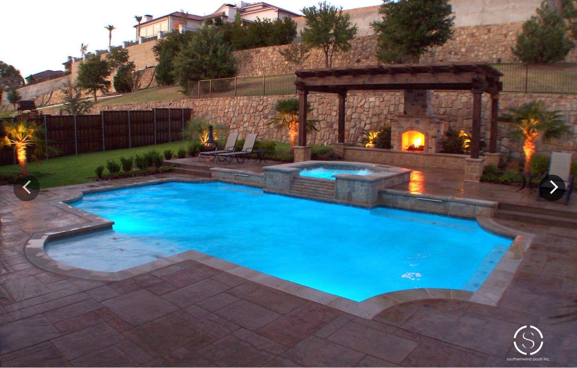 Pin By Courtney Keeter On Pool Geometric Pool Backyard Pool