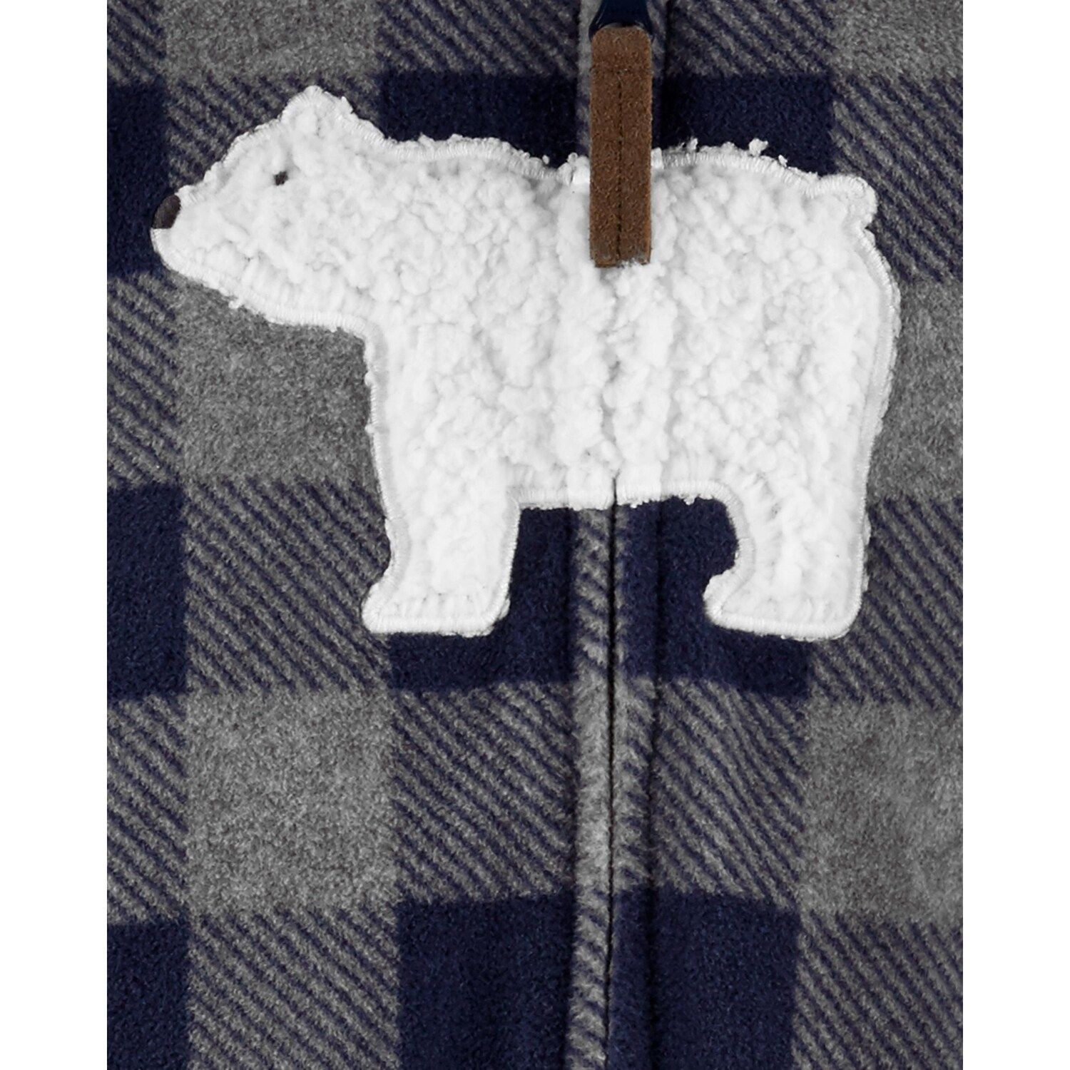 Photo of Baby Boy Carter's Hooded Polar Bear Fleece Coverall
