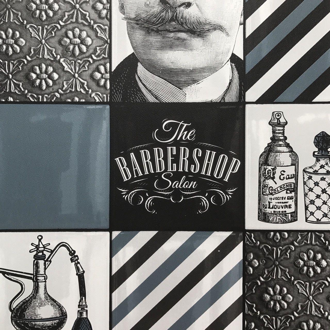 Barber Shop Tile Barber Shop Barber World Wallpaper