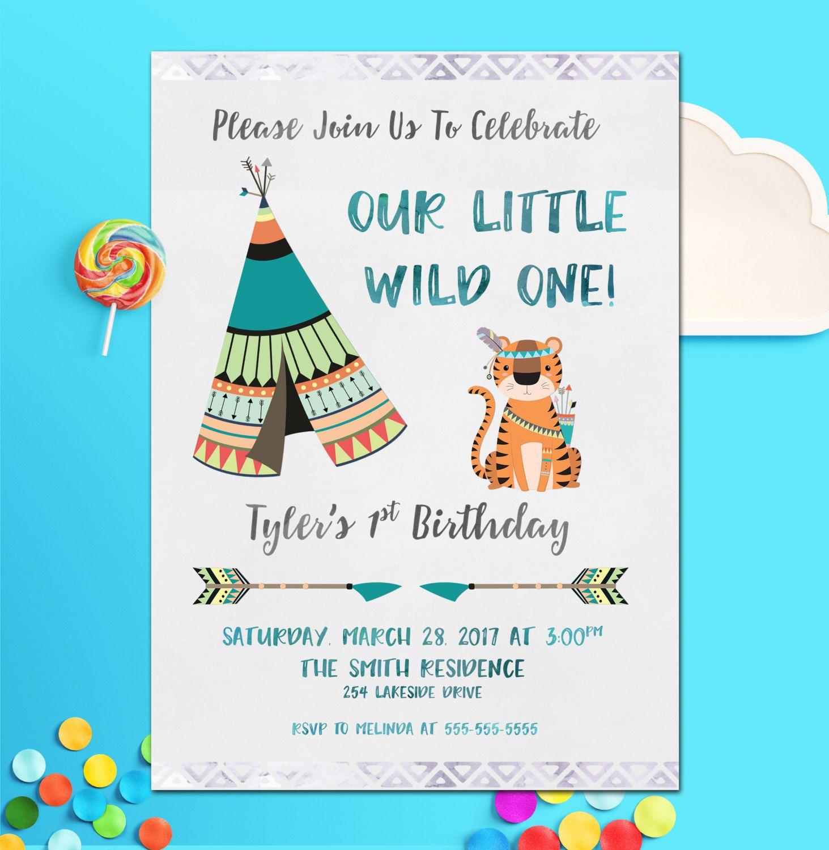 Boys Invitation, Birthday Invitation, Boys Birthday Invitation ...