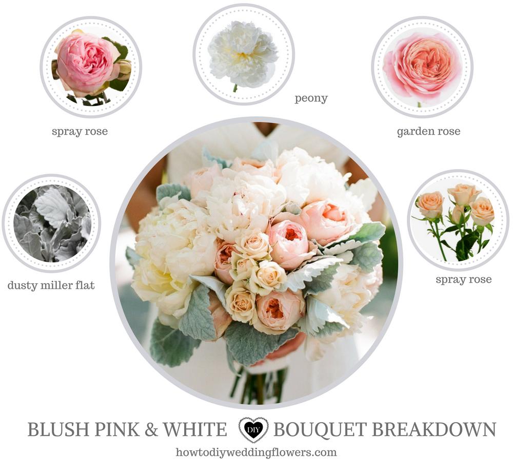 Blush Pink Wedding Ideas Bouquet Flower Names