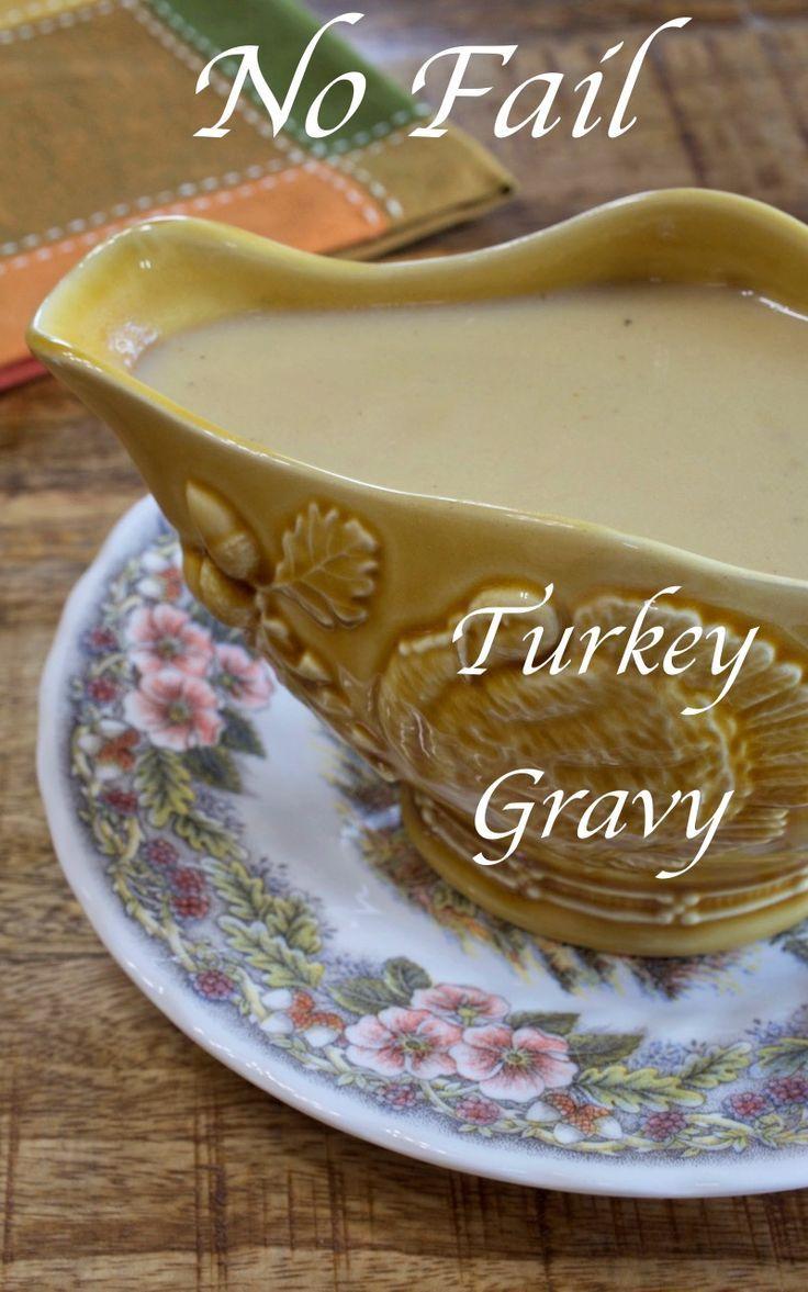 No-Fail Turkey Milk Gravy - My Country Table #turkeygravyfromdrippingseasy