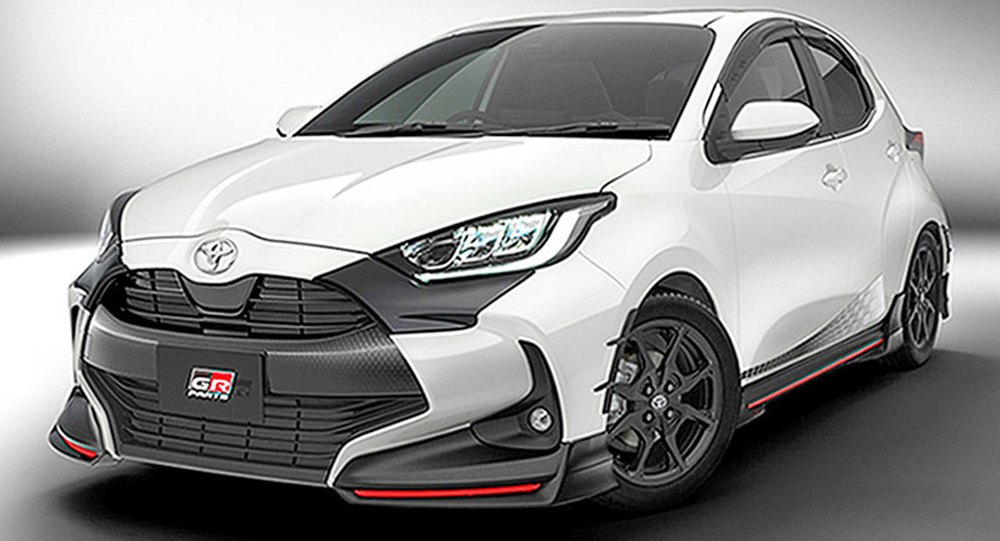 2020 Toyota Yaris Getting Trd Parts In Japan Next Year Carscoops Yaris Toyota Trd
