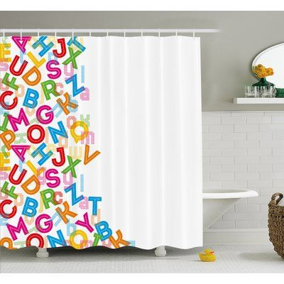Ambesonne Alphabet Background With Letter Icons Literature