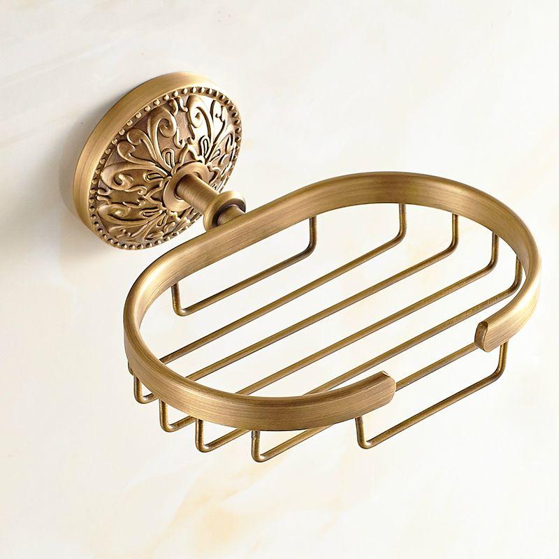 Vintage Solid Brass Soap Box Soap Net Soap Dishes European Flower ...