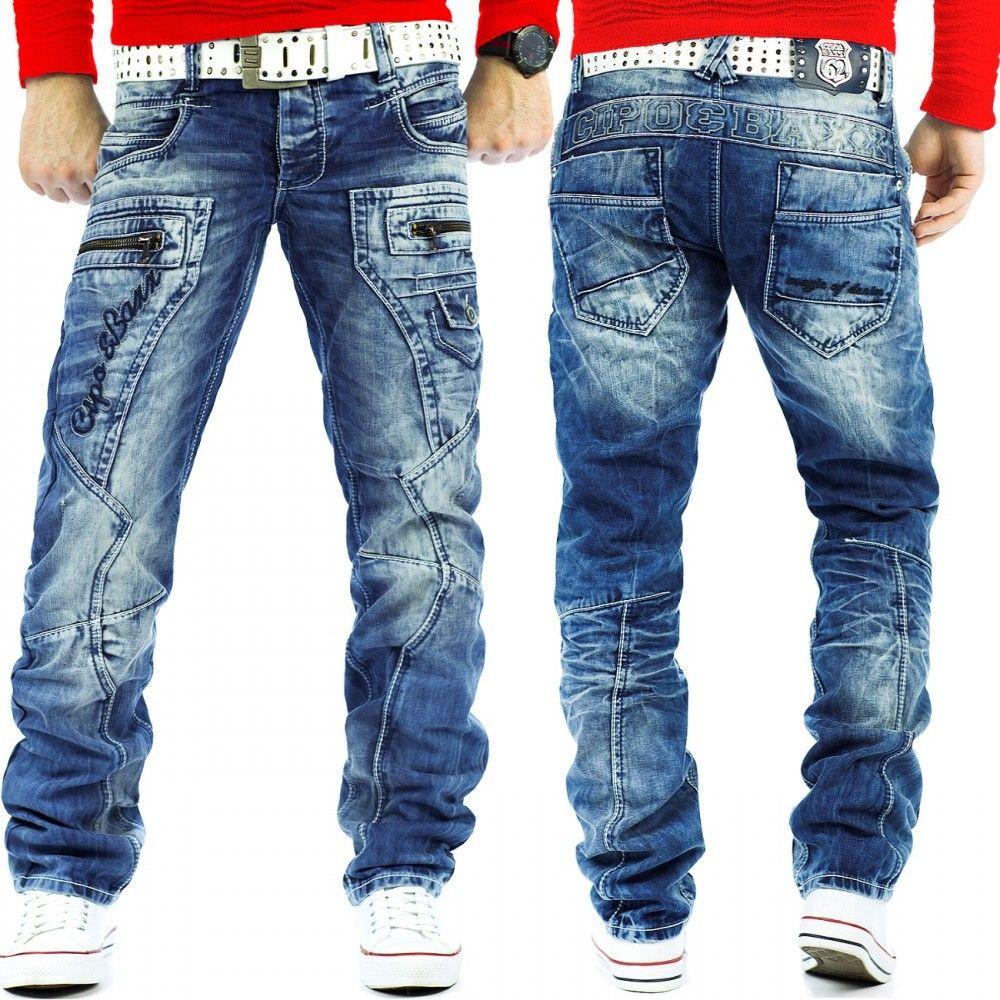 Cipo & Baxx Herren Jeans Hose DUNKELBLAU Bekleidung Herren