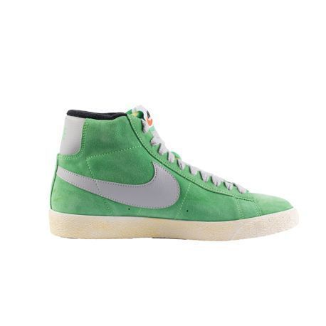 sale retailer 6a736 3648c Baskets Nike Blazer Mid Prm Vntg Suede Poison Green - marque   Nike Baskets  Nike Blazer