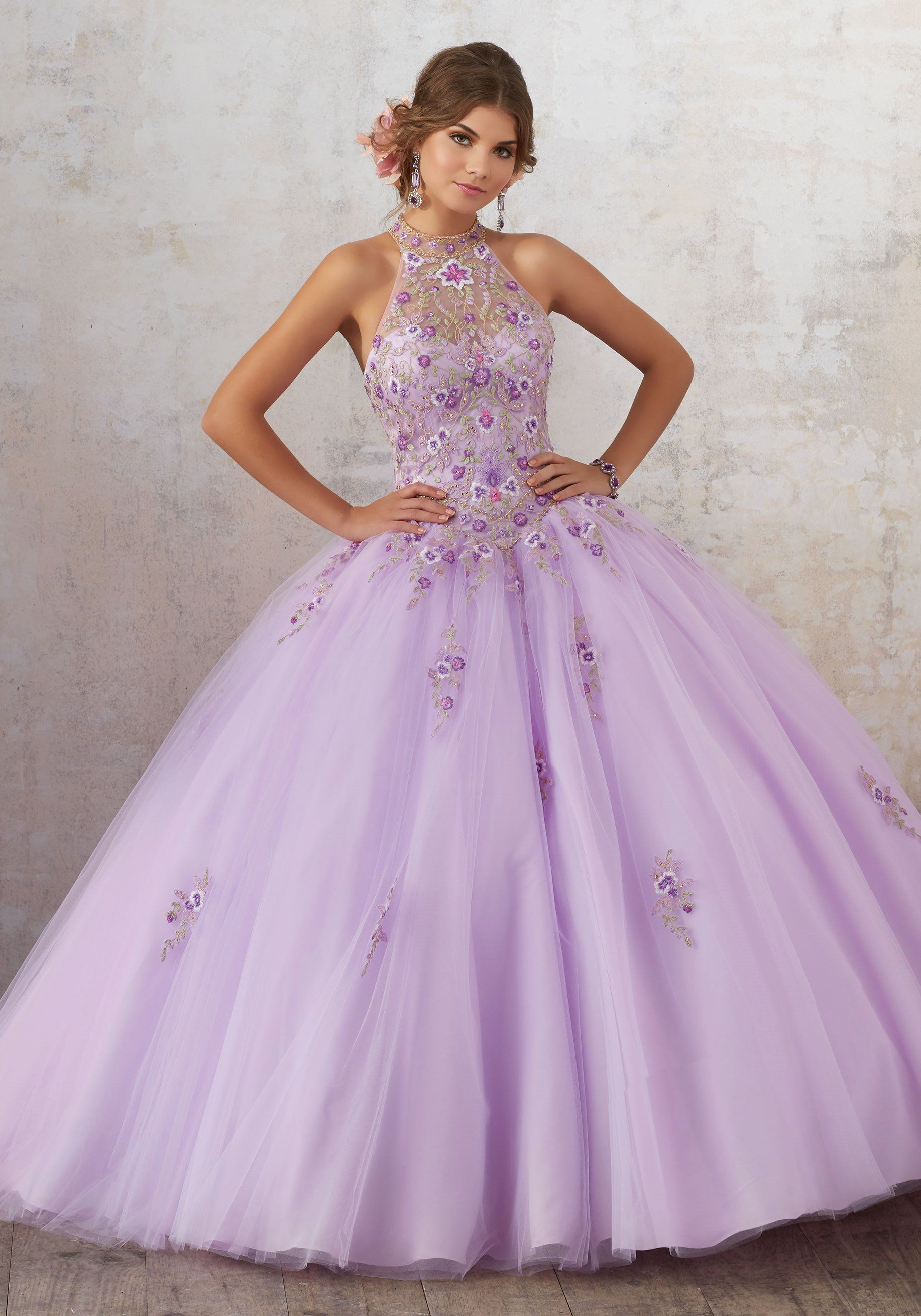 27258913746 High Neck Floral Quinceanera Dress by Mori Lee Vizcaya 89134 in 2019 ...