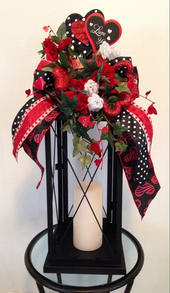 Genial FOREVER   Decorative Valentineu0027s Day Lantern Swag Tabletop Arrangement |  Pinterest | Tabletop, Swag And Etsy