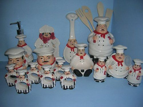 Captivating Every Piece Of This Set Is Either A 3 Dimensional Shape Of A Fat Chef