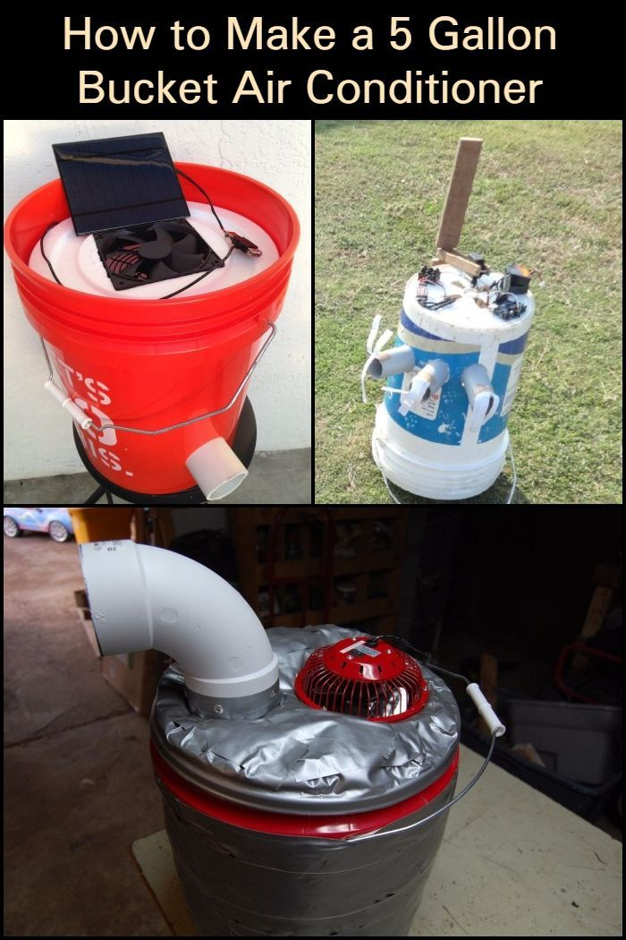 How to make a 5 gallon bucket air conditioner in 2020