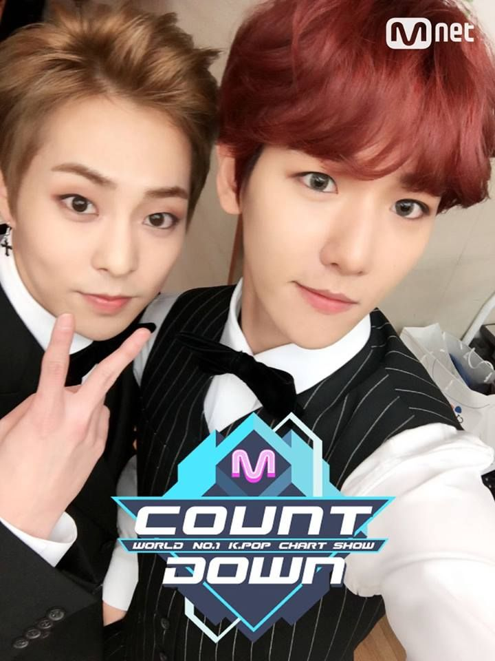 [#UPDATE] 03.11.16 - Atualização do Twitter do M!Countdown com Baekhyun e Xiumin.