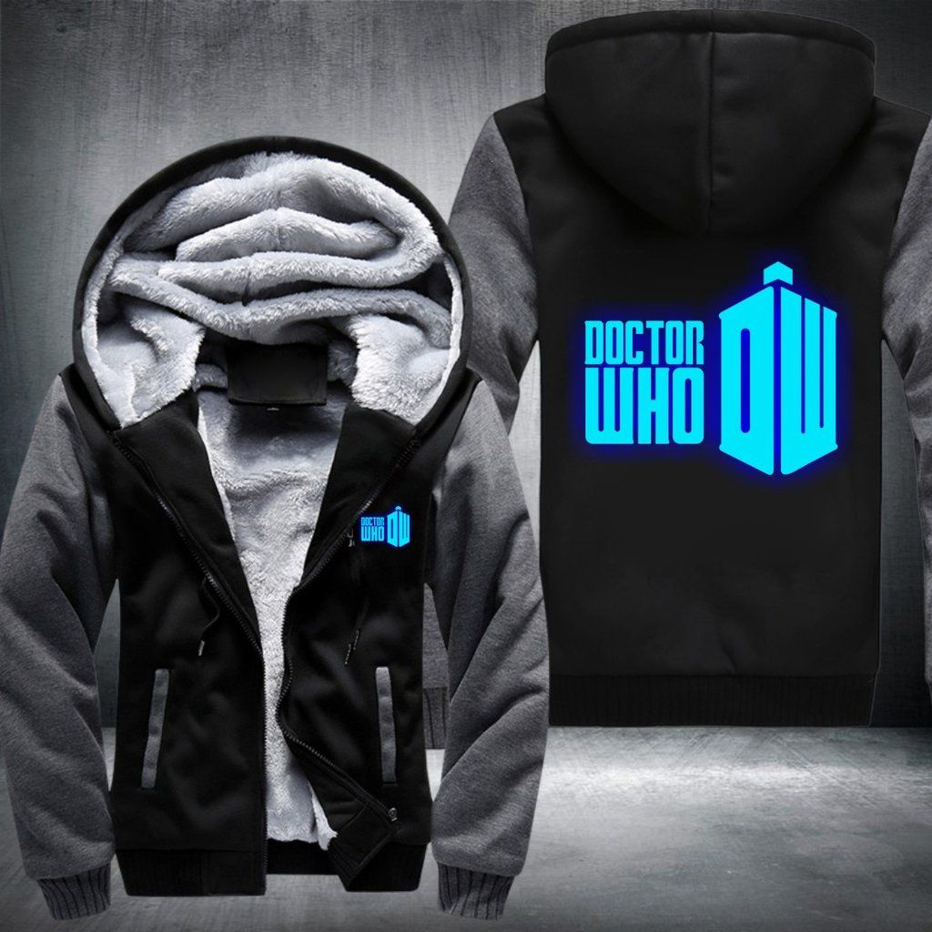 Whovians Glowing Fleece Jacket - LIMITED EDITION – Gadgetily.com - Best  Products  aa39e2f7d