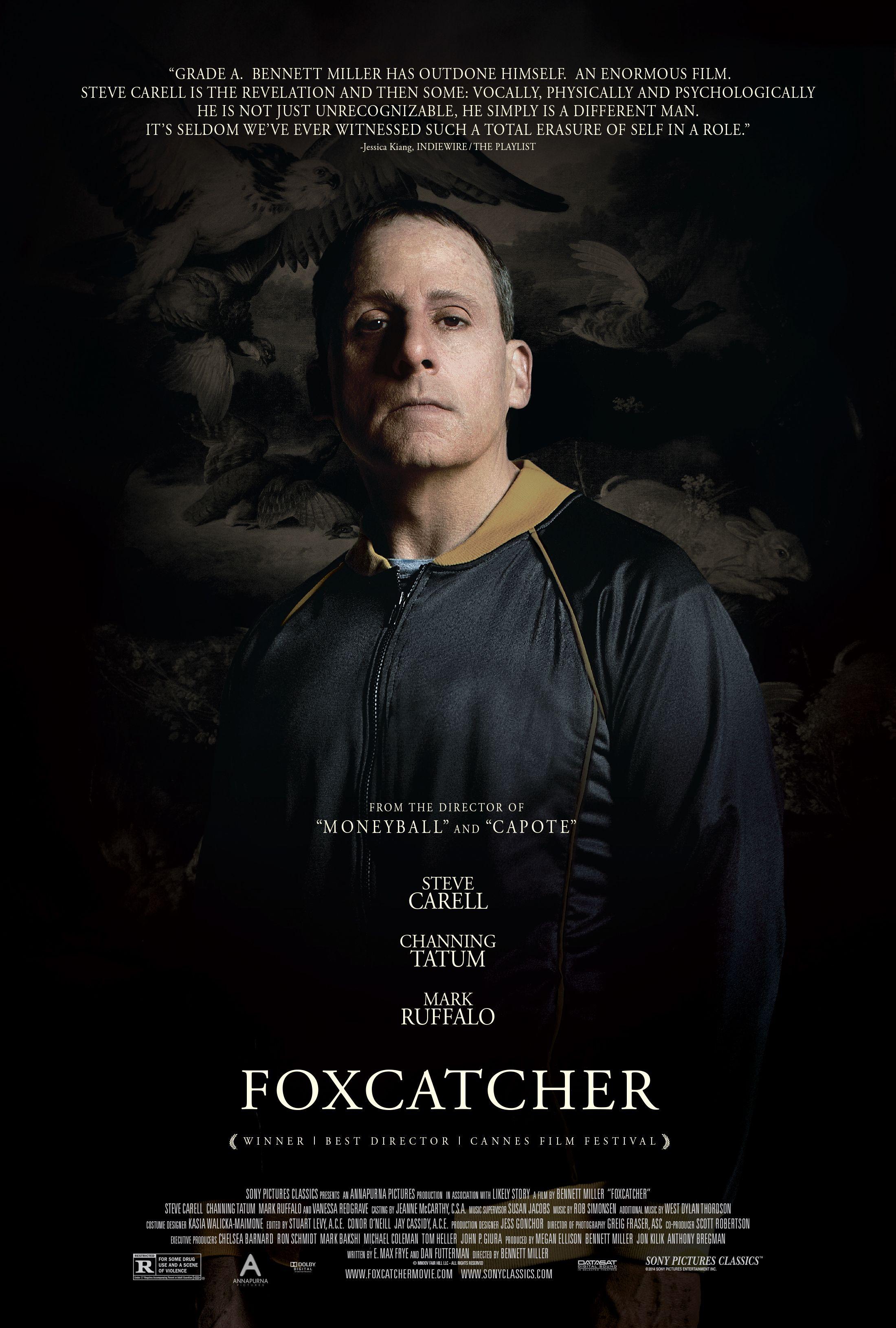Steve Carell Foxcatcher Poster