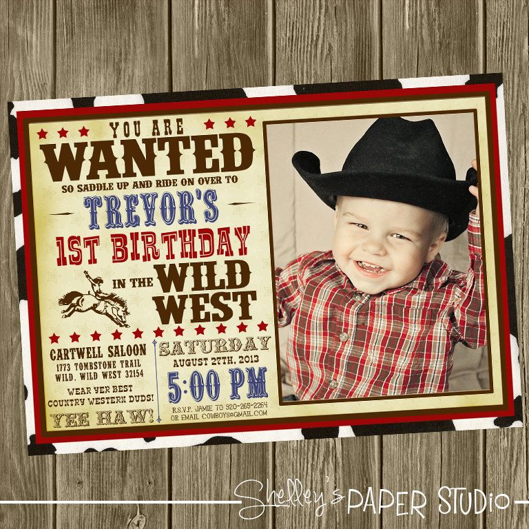 cowboy birthday party invitations - Google Search | Cooper turns ...