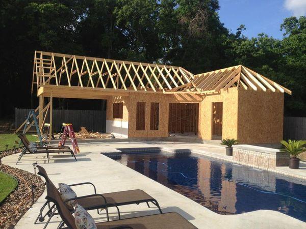9c83031d02f0ed29f61ab7ad018aacf7 Jpg 600 450 Pixels Small Pool Houses Pool Houses Pool House Shed