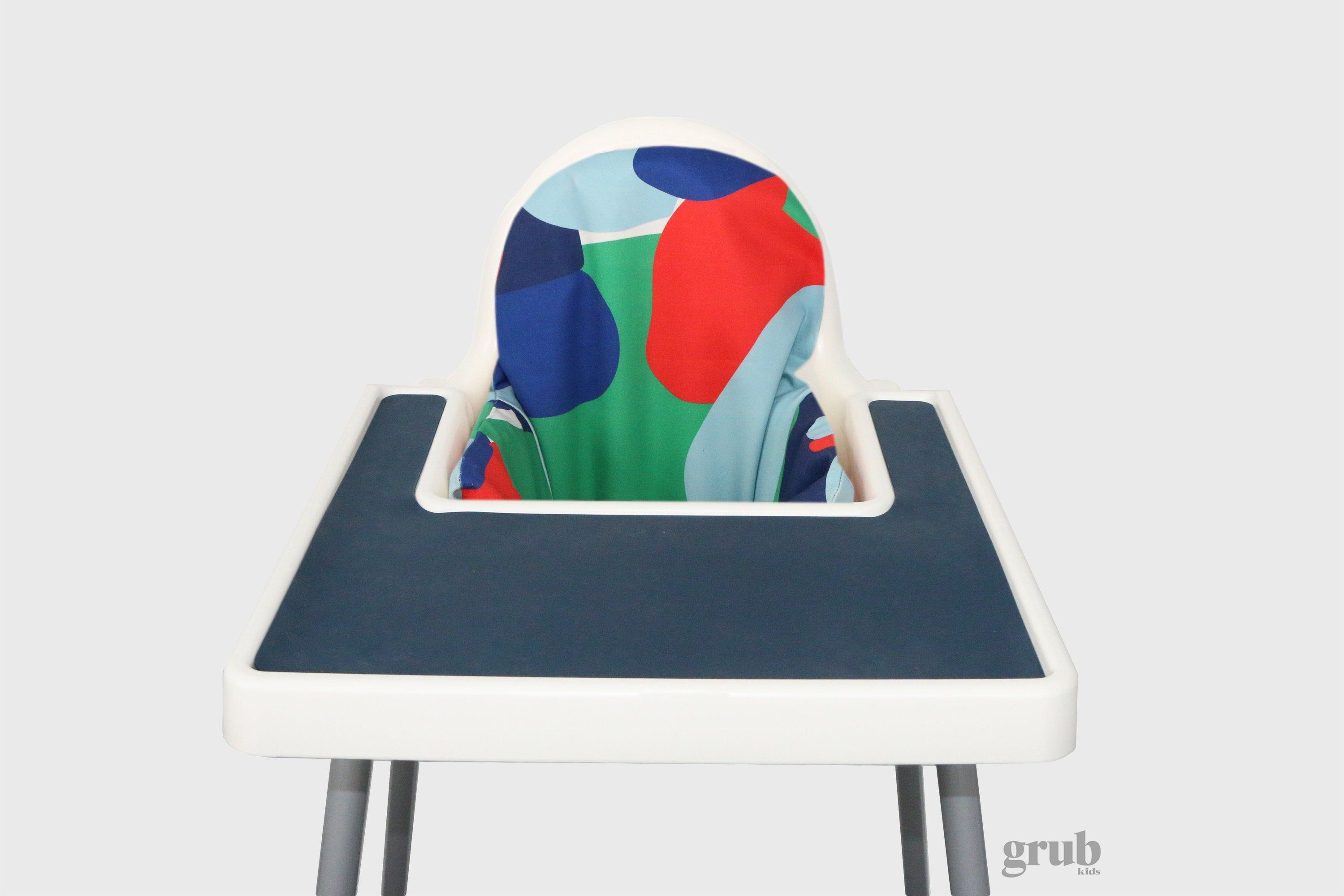 Navy, Red, Green, Blue Abstract Highchair Cover for IKEA