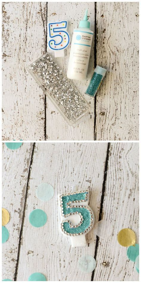 Customized Embellished Number Birthday Candle...how to...