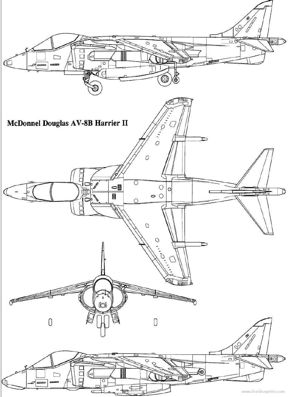 mcdonnell douglas av 8b harrier ii templates views [ 950 x 1309 Pixel ]