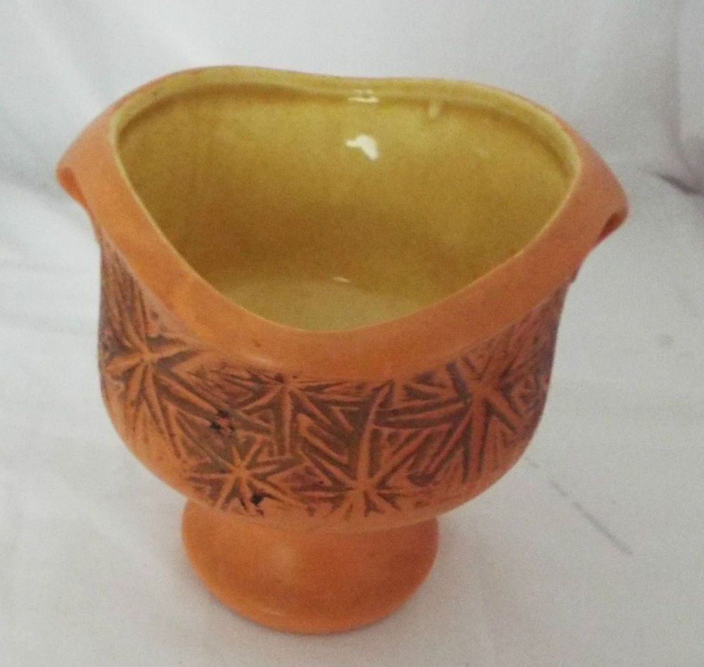Vintage orange yellow mcp mccoy pottery planter vase with star vintage orange yellow mcp mccoy pottery planter vase with star pattern in pottery glass reviewsmspy