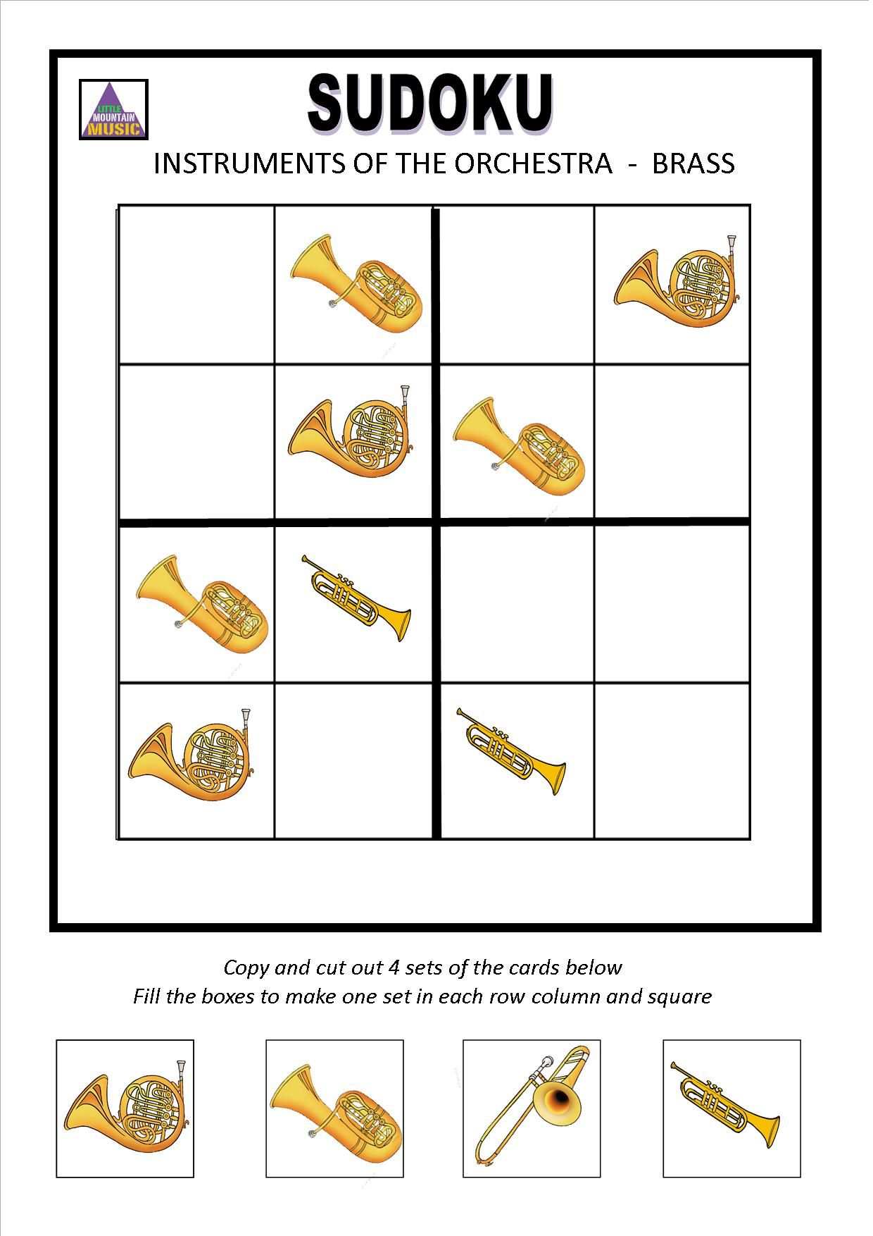 Instruments Of The Orchestra Sudoku