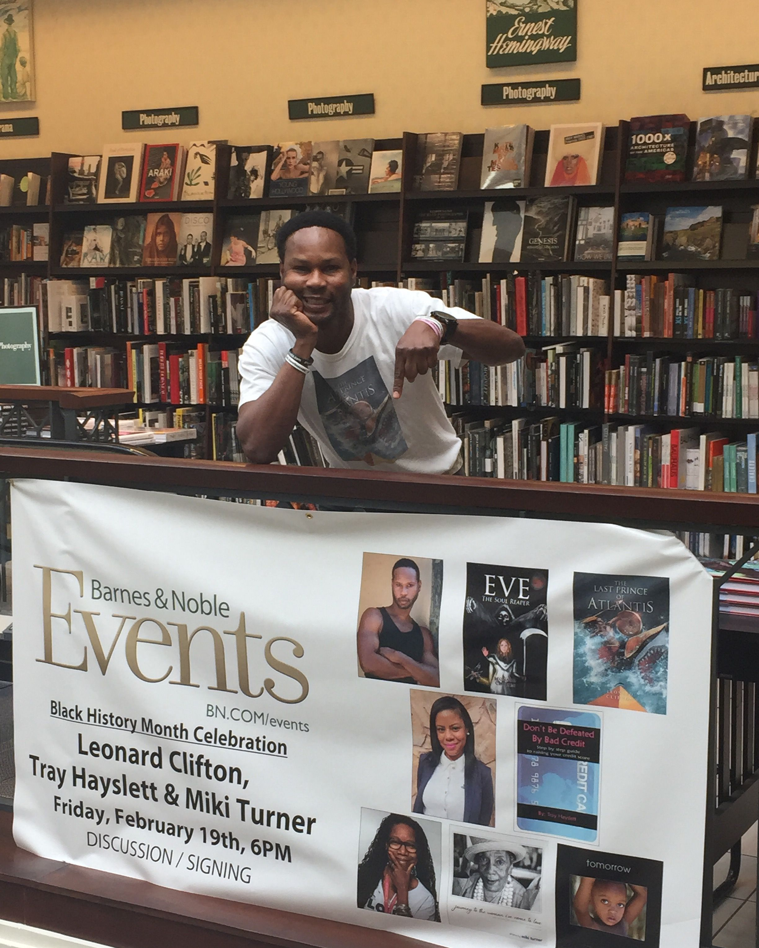 At the barnes and noble for my book signing of eve the