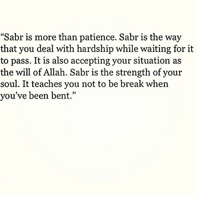 sabr is more than patience