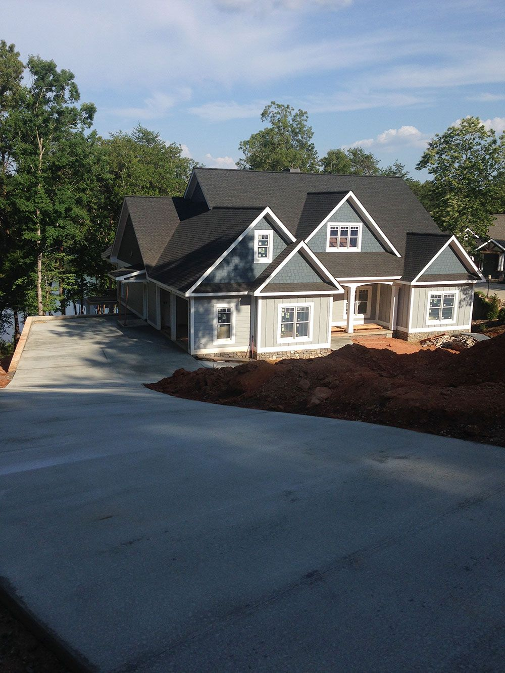 Craftsman Style Lake House Plan with Walkout