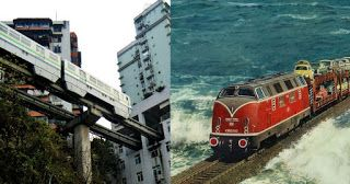8 Trains That Pass Through The Odd Places