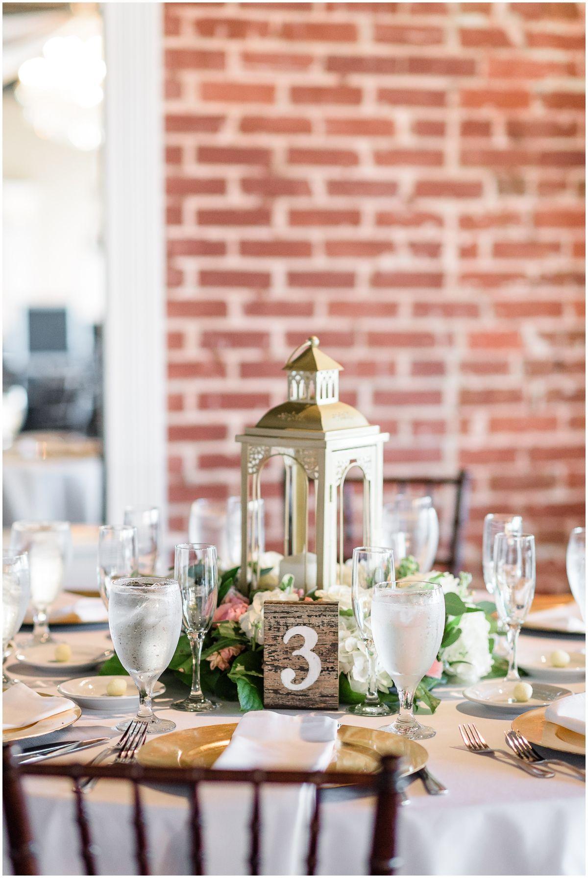 Jade Violet Wedding Floral Gold Lanterns Lantern Centerpieces