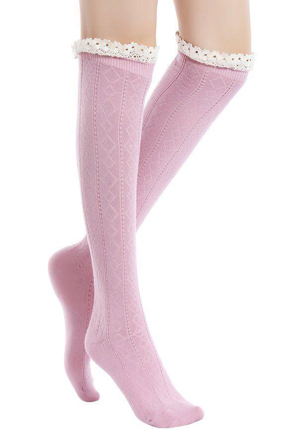 Lilac Bowbear Little Girls 3 Pair Gathered Ruffles Leg Warmers Ballet Pink Sky Blue