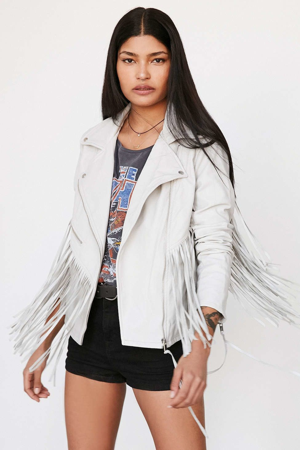 10 Outerwear Options That Will Let You Wear Your Spring Dresses When It S Cold Fringe Leather Jacket Fringe Jacket Leather Fringe [ 1463 x 975 Pixel ]