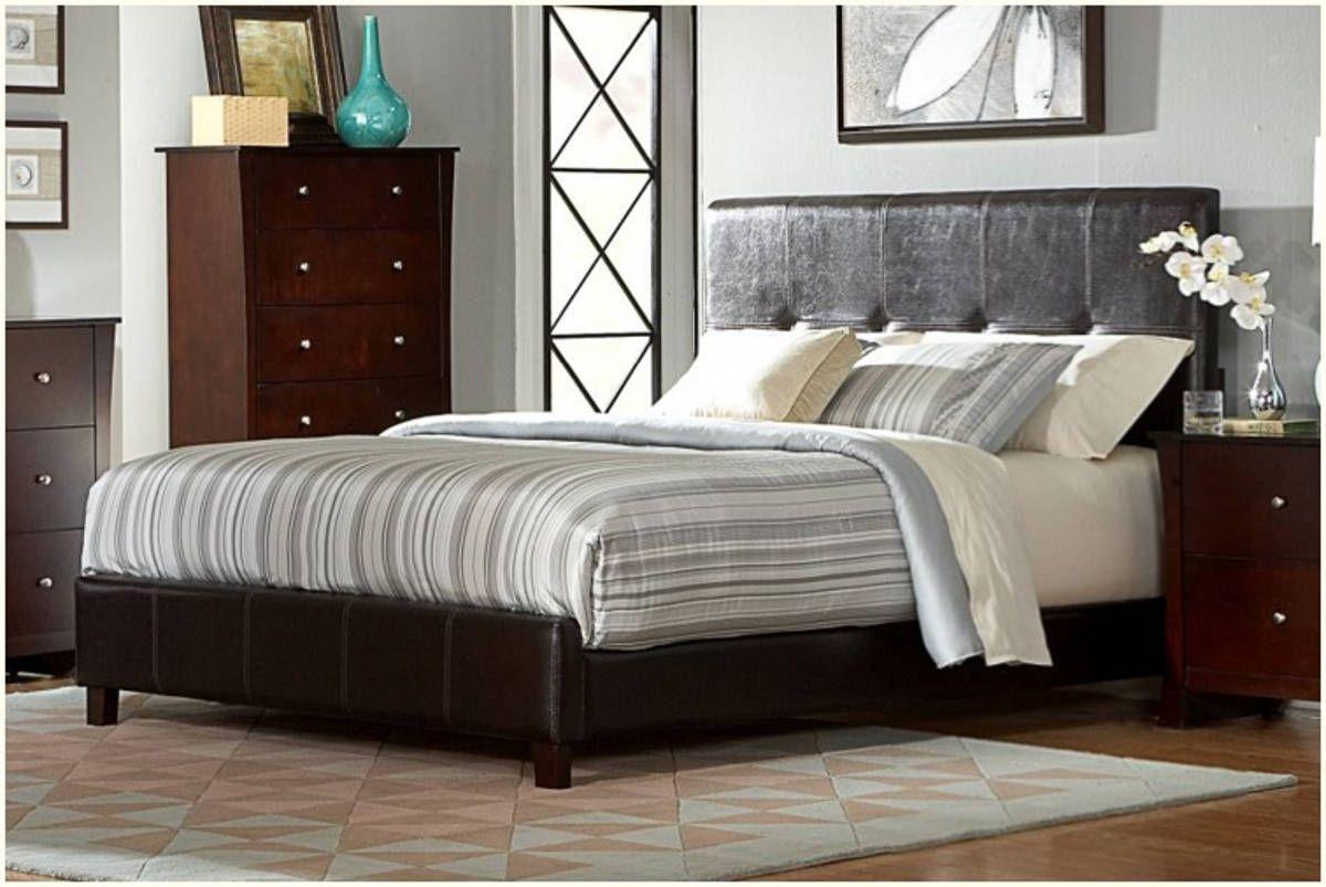 Avelar contemporary warm cherry wood vinyl king bed home elegance
