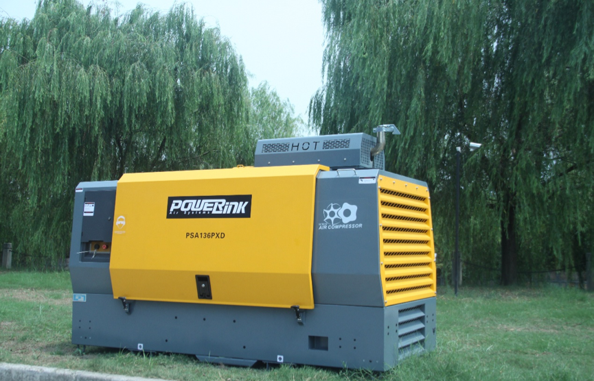 Powerlink doublescrew air compressor, provides high
