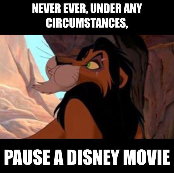 never pause a disney movie disney pinterest disney movies