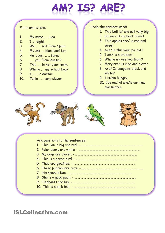Am Is Are English Language Teaching Language Teaching English Grammar Worksheets [ 1440 x 1018 Pixel ]